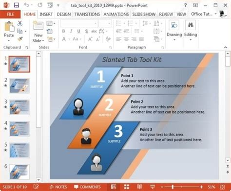 Powerpoint Tab Toolkit Template Is An Awesome Animated Template By Presenter Media For Powerpoint Tabs Template