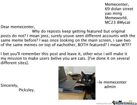Letter Meme Letter To Memecenter By Picksley Meme Center