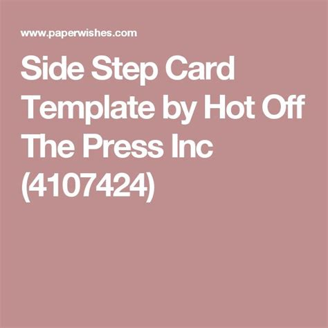 side step card template 1000 ideas about side step card on step cards
