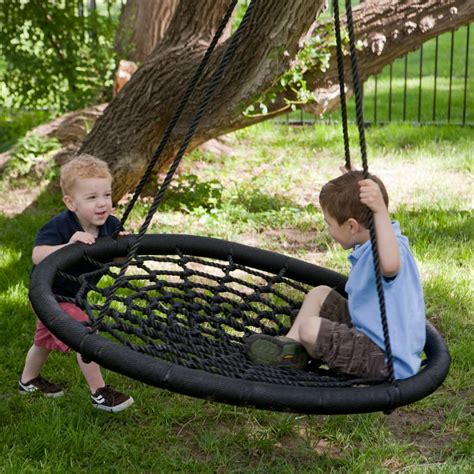 backyard swings for kids swing and spin tree porch swing oh my that s awesome