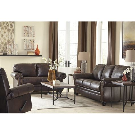 ashley walnut sofa ashley bristan 3 piece sofa set in walnut 82202 38 35 25 pkg