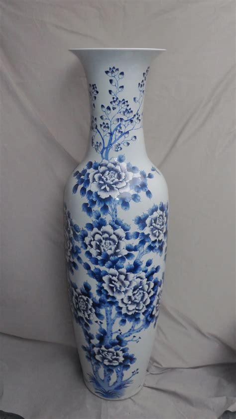 Big Flower Vase Design by Blue Flower Design Large Floor Vase Wryul03