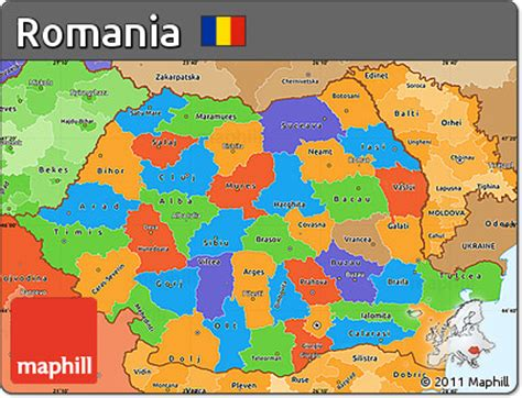 political map of romania free political simple map of romania political shades outside