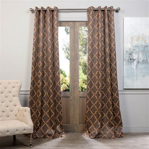 seville curtains buy seville taupe gold grommet blackout curtain drapes