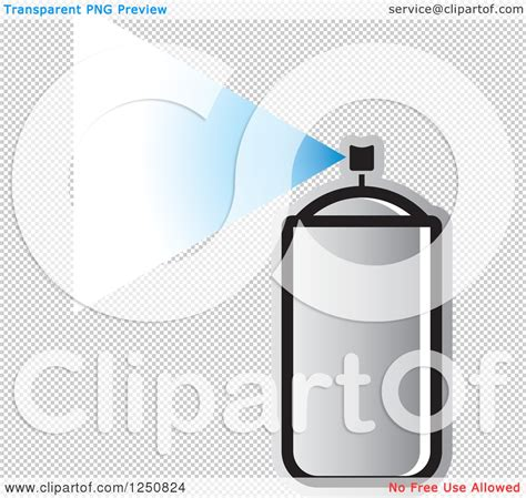spray paint on illustrator clipart of a silver can of spray paint royalty free