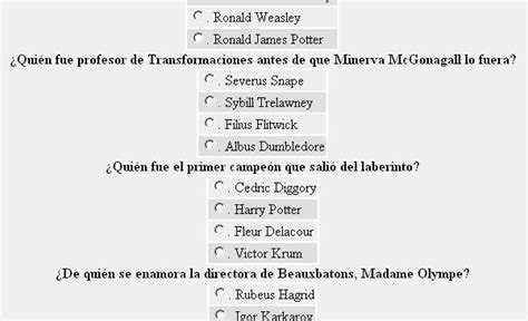 harry potter - Preguntas Mas Dificiles Sobre Harry Potter
