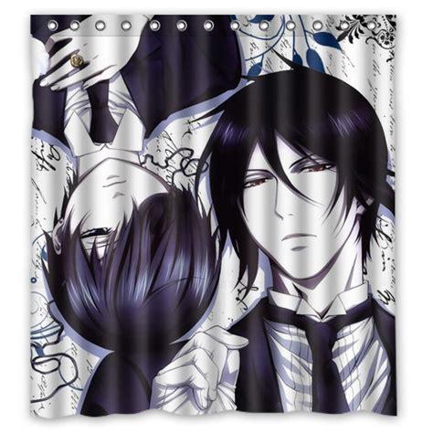 anime curtains hot new fashion deco japanese anime black butler bathroom
