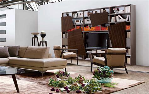 attraente Idee Di Arredo Soggiorno #3: soggiorno-moderno-roche-bobois-libreria-latina.jpg