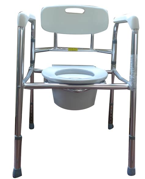 Cing Toilet Seat Folding by Aluminium Folding Height Adjustable Stationary Commode