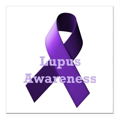 purple ribbon lupus awareness square car magnet 3 quot by
