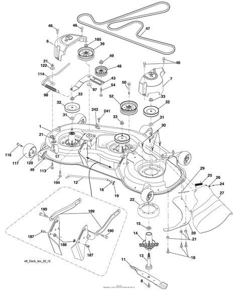 husqvarna yth     parts diagram  mower deck