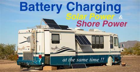 boat battery smoking rv marine battery charging solar shore power combined