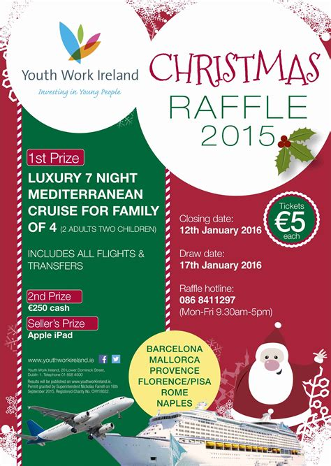 christmas raffle 2015 results youth work ireland