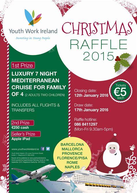 christmas raffle prize ideas raffle 2015 results youth work ireland