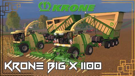 Big X krone big x 1100 v1 0 combine farming simulator 2019