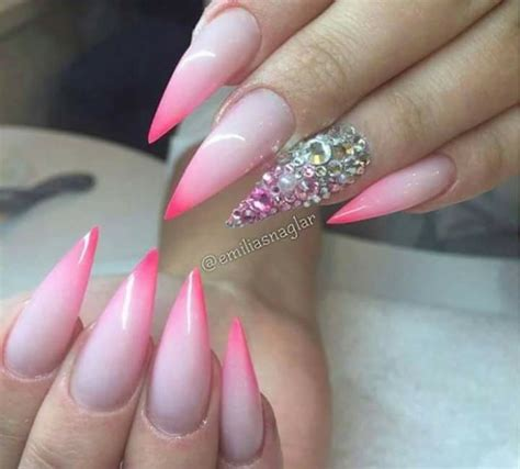 how to do ombre stiletto nail 42 most beautiful pink stiletto nail art design ideas for