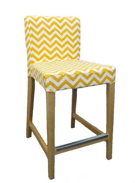 Henriksdal Bar Stool Chair Cover by Chevron Custom Slipcover For Ikea Henriksdal Bar Stool