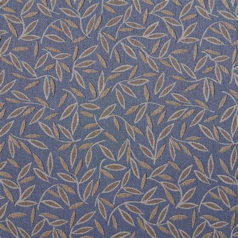 images of upholstery fabric blue and brown floral leaf contract grade upholstery