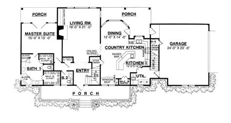 kitchen at front of house plans home christmas decoration the country kitchen 8205 3 bedrooms and 2 baths the