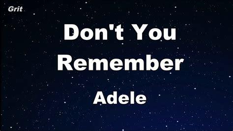 free download mp3 karaoke adele don t you remember don t you remember adele karaoke no guide melody