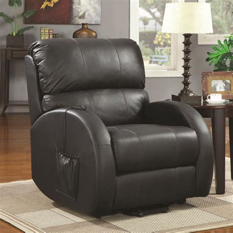 coaster recliners coaster power lift recliner black 600416 ebay