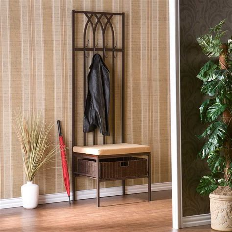 indoor small entryway bench with wallpaper small
