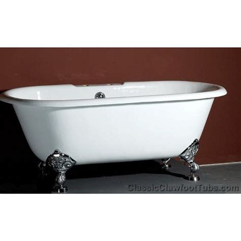 cast iron clawfoot bathtubs 61 quot cast iron double ended clawfoot tub classic clawfoot tub