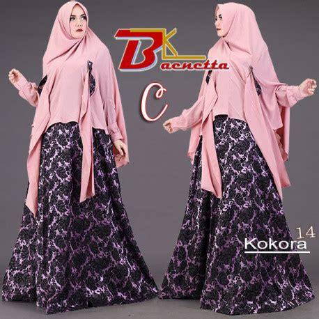 Gamis Modern Cantik 14 kokora 14 c baju muslim gamis modern