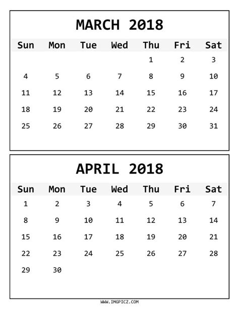 printable calendar march april 2018 march april 2018 calendar printable happyeasterfrom com