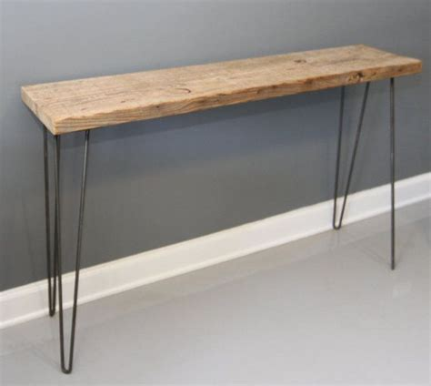 hairpin legs table reclaimed wood console table w hairpin legs free