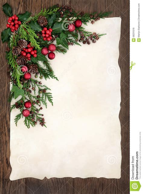 abstract christmas border stock photo image