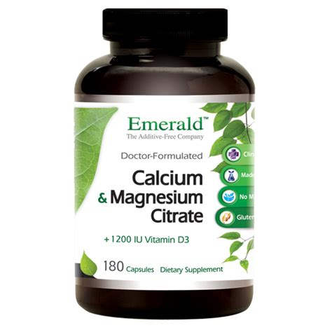 Magnesium Citrate For Detox Of Toxins by Calcium Mag Citrate Emerald Supplements