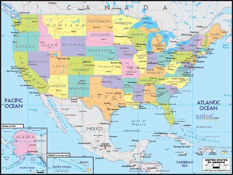 usa map map of united states free large images