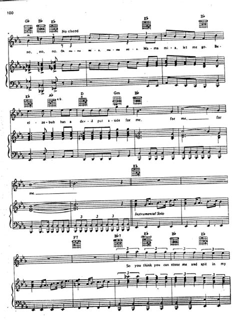 testo note killer partitura bohemian rhapsody youbioit