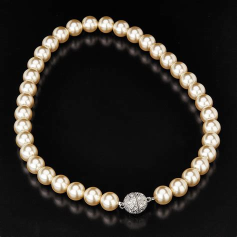 Faux Pearl Necklace stunning faux pearl necklace with magnetic clasp supplied
