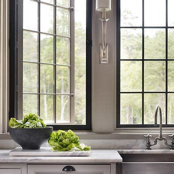 swing out windows stainless steel apron sink cottage kitchen benjamin