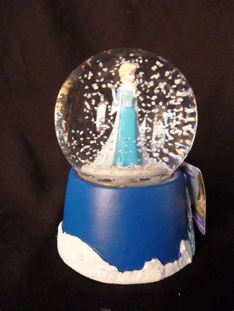 new disney frozen elsa musical water globe wind up snow