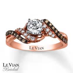 levian engagement rings le vian engagement ring 3 4 ct tw diamonds 14k strawberry gold