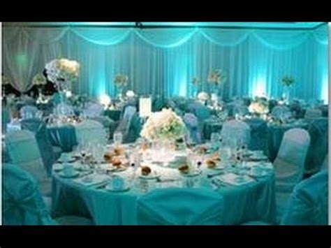 Aqua Wedding Decoration Ideas   YouTube