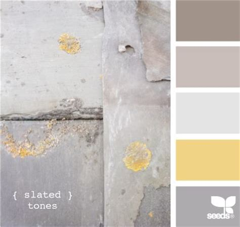 slated tones by design seeds yellow and gray seem to be pretty popular these tones would be