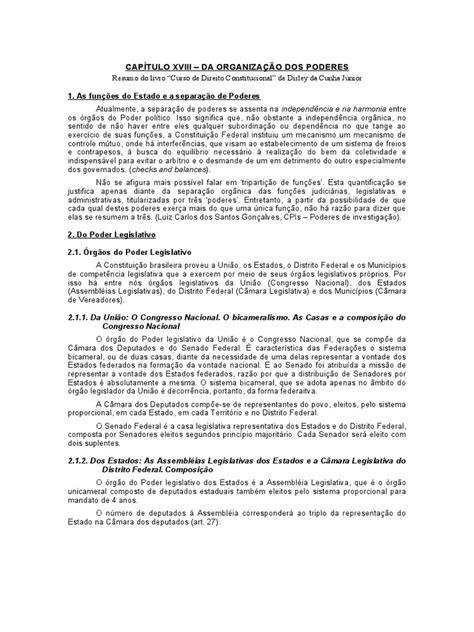 """Resumo do livro """"Curso de Direito Constitucional"""" de"""