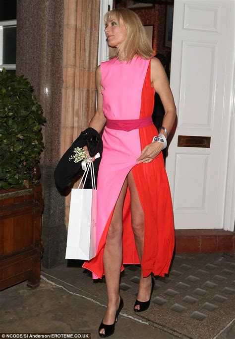 Wardrobe Dress by Joely Richardson Dazzles In Daring Panel Dress But Almost