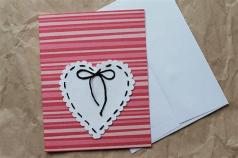 Handmade Paper Hearts - stitched hearts greeting cards two styles loulou downtown