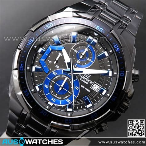 Casio Edifice Efr 539 Black buy casio edifice black blue ion plated mens watches efr