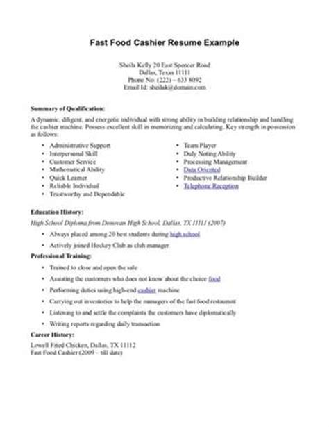 food runner resume sample experience resumes
