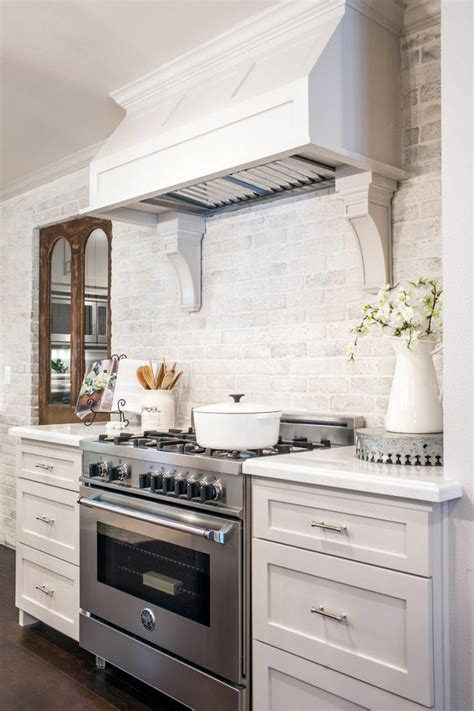 brick backsplash tiles kitchen traditional beige cabinets view gallery extended white cabinets