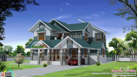 sloped roof home designs hoe plans pictures modern sloping sloping roof modern home design kerala home design and