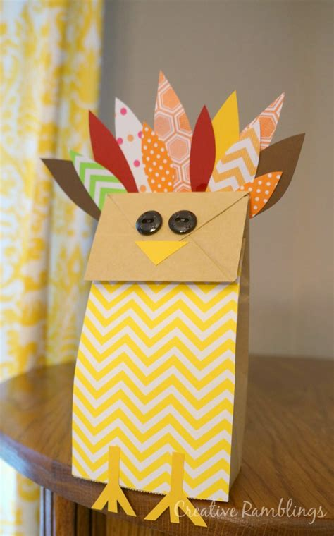 Thanksgiving Paper Bag Crafts - paper bag turkey thanksgiving craft