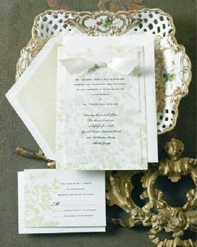 12 wedding invitations kit green floral set formal reply cards new ebay