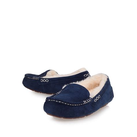 ugg slippers ansley ugg ansley loafer style slippers